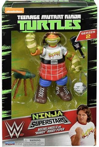 Teenage Mutant Ninja Turtles Ninja Superstars - Michelangelo Rowdy Roddy Piper