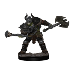 Pathfinder Battles Painted Mini - Half-Orc Male Barbarian