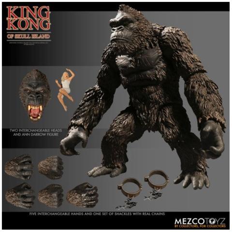 MEZCO - KING KONG OF SKULL ISLAND FIGURE 7 INCH