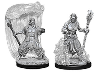 Nolzurs Marvelous Miniatures - Water Genasi Male Druid
