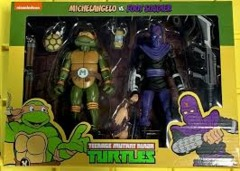 Neca - Teenage Mutant Ninja Turtles 2 Pack - Michelangelo & Foot Soldier