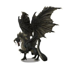 DND ICONS OF THE REALMS ADULT BLACK DRAGON PREMIUM FIGURE
