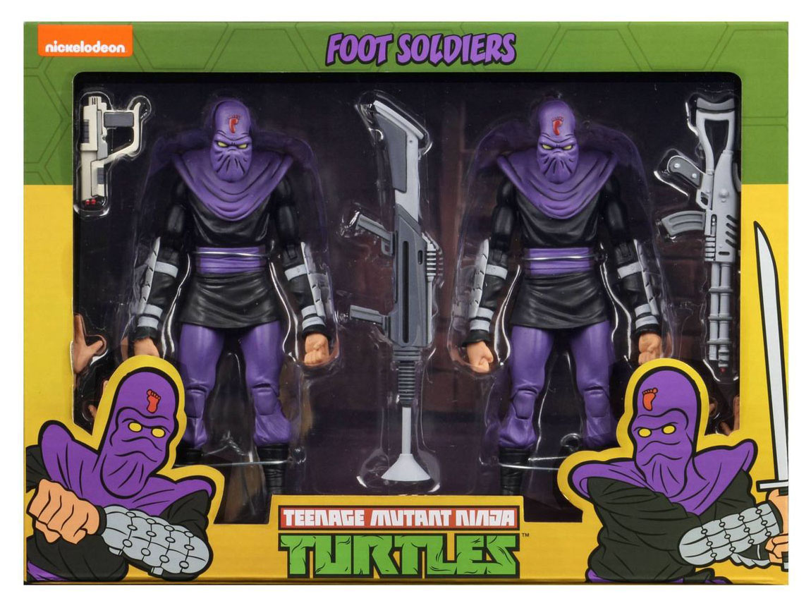 NECA Teenage Mutant Ninja Turtles Foot Soldiers (Classic Cartoon) 7 Action Figure 2 Pack