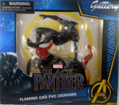 Marvel Black Panther Flaming Car PVC Diorama - Diamond Gallery
