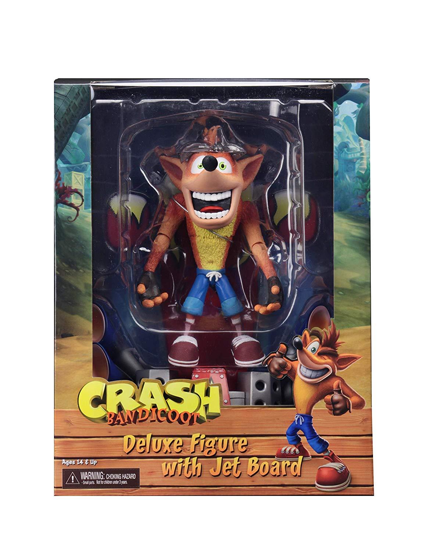 Crash Bandicoot Deluxe Figure with Jet Board
