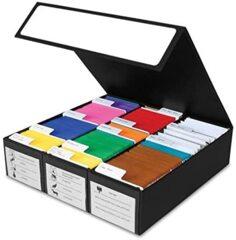BCW - GAMING CARD BOX 3 ROW BLK W/ Handle
