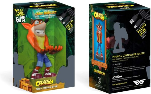 Cable Guys Crash Bandicoot Controller Charging Statue