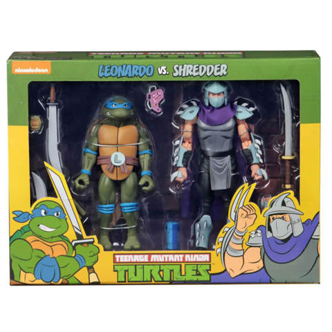 Neca Teenage Mutant Ninja Turtles 2 Pack - Leonardo & Shredder
