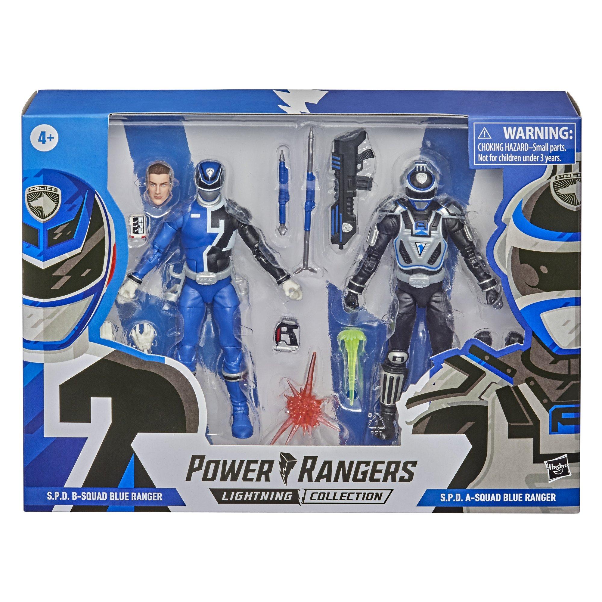 Power Rangers Lightning Collection 2 Pack - B Squad Blue S.P.D Ranger Vs. A Squad Blue S.P.D. Ranger