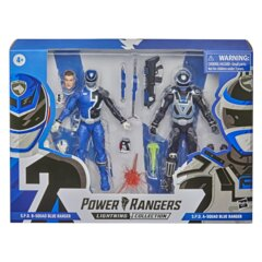 Power Rangers Lightning Collection 2 Pack - B Squad Blue S.P.D Ranger Vs. A Squad Blue S.P.D. Ranger