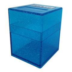 Defender Deck Box, Blue Sparkle - Defender Deck Box - Solid Series