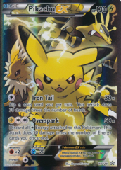 Pikachu-EX - XY124 - Red And Blue Collection: Pikachu-EX Box Promo