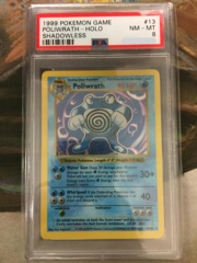 Poliwrath - Base Set Shadowless - PSA 8 NM-MT