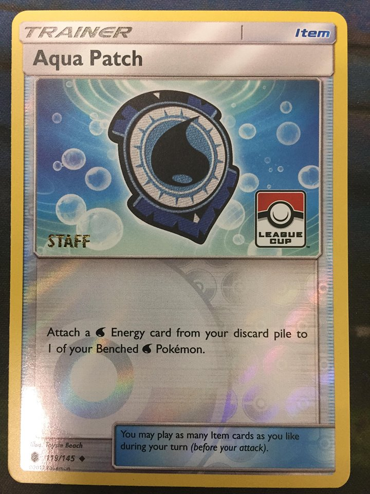 Aqua Patch - 119/145 - STAFF 2017 Pokemon League Stamped Promo