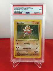 Nockchan (Hitmonchan) - Holo - 1st Edition German Base Set - PSA 7 NM 52992638