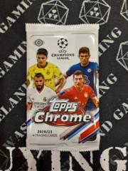 2020-21 Topps Chrome UEFA Champions League Soccer Hobby Pack