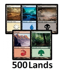 500x Basic Land Collection (100x of each type) Mtg Magic