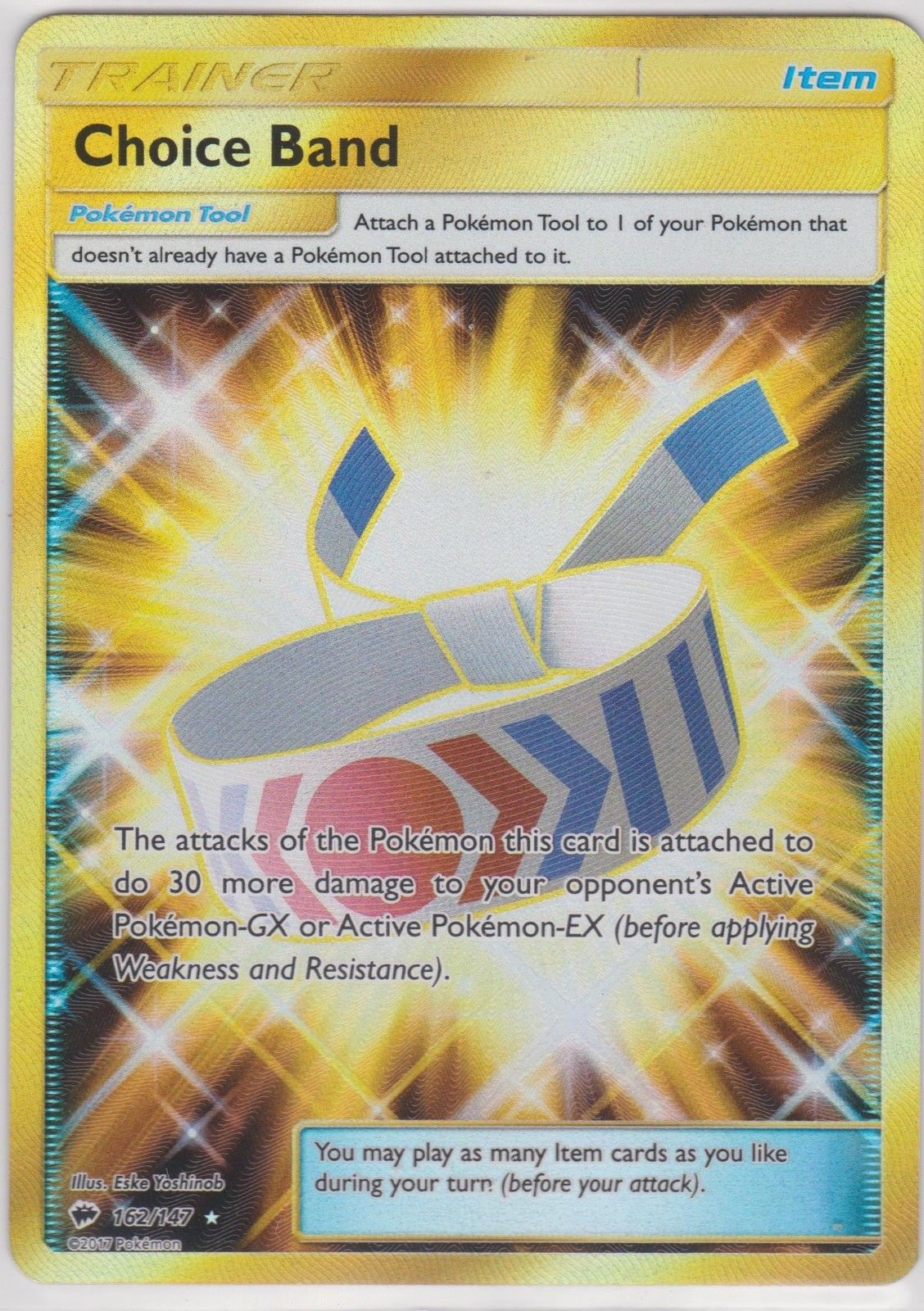 162//147 Secret Rare Quase Perfeito-Estado perfeito Pokemon SM03-Burning Shadows 1x Choice Band