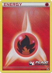 Fire Energy - 106 - Promotional - Crosshatch Holo Pokemon League Basic Season 2011