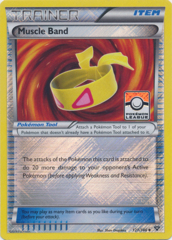 Muscle Band - 121/146 - Promotional - Crosshatch Reverse Holo Pokemon League Promo