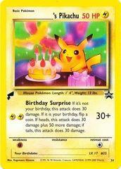 Birthday Pikachu (Non-Holo Tail Stamp) - 24 - Pokemon World Collection
