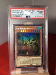 The Winged Dragon of Ra - LED7-EN000 - Ghost Rare - Mint PSA 9 - 51632587