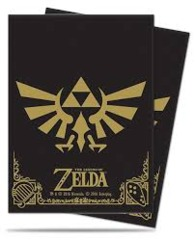 Ultra Pro - The Legend of Zelda: Black & Gold Full-View Deck Protectors 65 ct