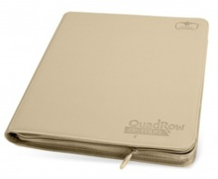 Ultimate Guard QuadRow Zipfolio 12 pocket -  Sand