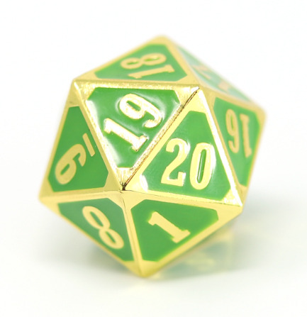 MTG Roll Down Counter - Shiny Gold w/ Green