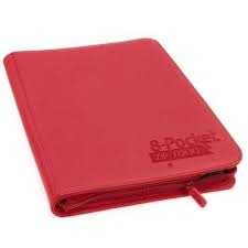Ultimate Guard Zipfolio XenoSkin - 8 Pocket -  Red
