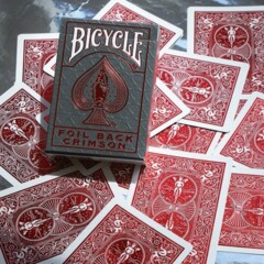 Bicycle - Foil Crimson Red Metalluxe Deck