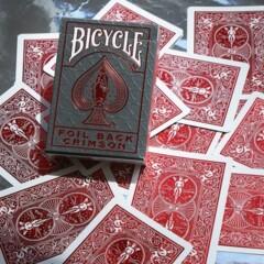 Bicycle - Foil Crimson Red Metalluxe Deck