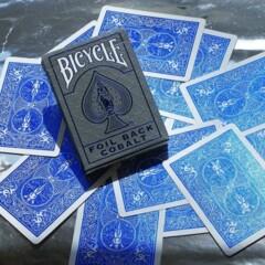 Bicycle - Foil Cobalt Blue Metalluxe Deck