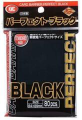 KMC Perfect Fit Black Sleeves - Full Size (89 x 64mm) - (80 ct)