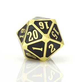 MTG Roll Down Counter - Shiny Gold w/ Black