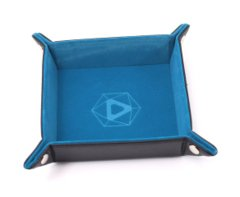 Die Hard Folding Square Tray w/ Teal Velvet