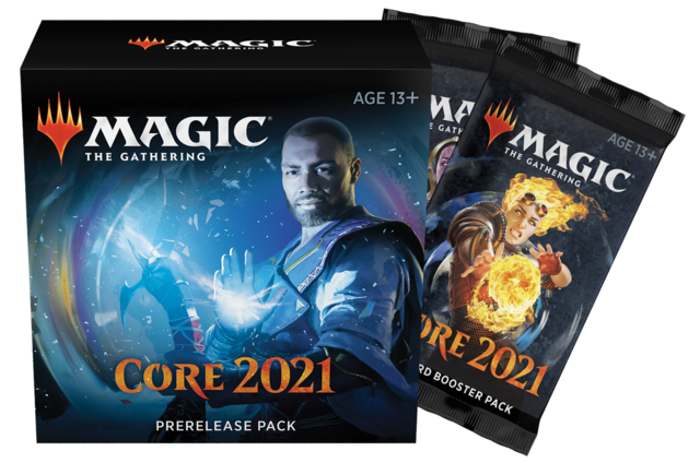 Core Set 2021 Prerelease kit + 2 Extra Boosters at-Home