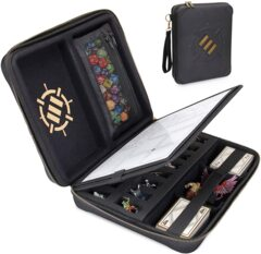 Accessory Power - ENHANCE Tabletop RPG Organizer Case - DnD Organizer with Built-in Character Sheet Holder and Erasable Scribe P