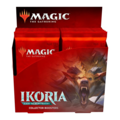 Ikoria: Lair of Behemoths Collector Booster Pack Display (12 Packs, MTG Arena swag bag code included)