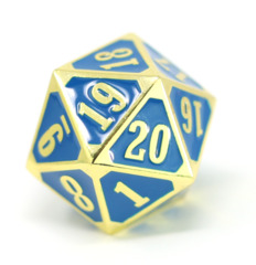 MTG Roll Down Counter - Shiny Gold w/ Blue
