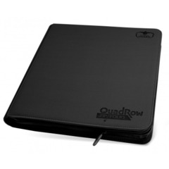 Ultimate Guard QuadRow Zipfolio 12 pocket - Black