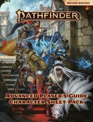 Pathfinder Advanced Player's Guide Character Sheet Pack - Second Edition