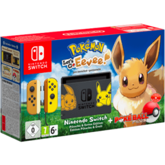 System: Nintendo Switch Bundle - Pikachu & Eevee Edition with Pokemon: Let's Go, Eevee! + Poke Ball Plus
