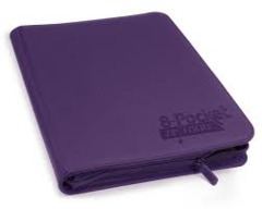 Ultimate Guard Zipfolio XenoSkin - 8 Pocket -  Purple