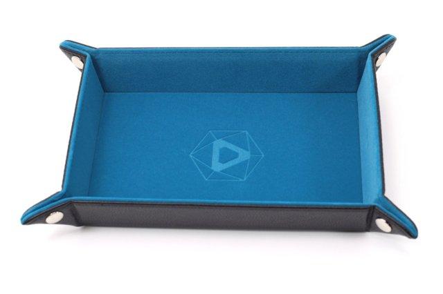 Die Hard Folding Rectangle Tray w/ Teal Velvet