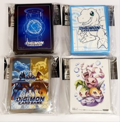 Digimon Card Game Official Sleeves - Set of Four