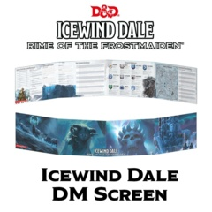 D&D Dungeon Master's Screen - Icewind Dale: Rime of the Frostmaiden