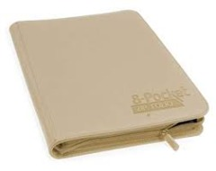 Ultimate Guard Zipfolio XenoSkin - 8 Pocket -  Sand