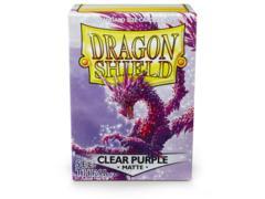 Dragon Shield Box of 100 Matte Clear Purple