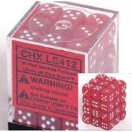 CHXLE412 Red w/white Frosted